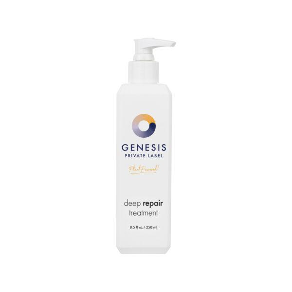bottle of genesis private label hair repair treatment