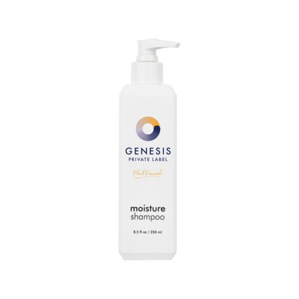 bottle of genesis private label moisturizing shampoo